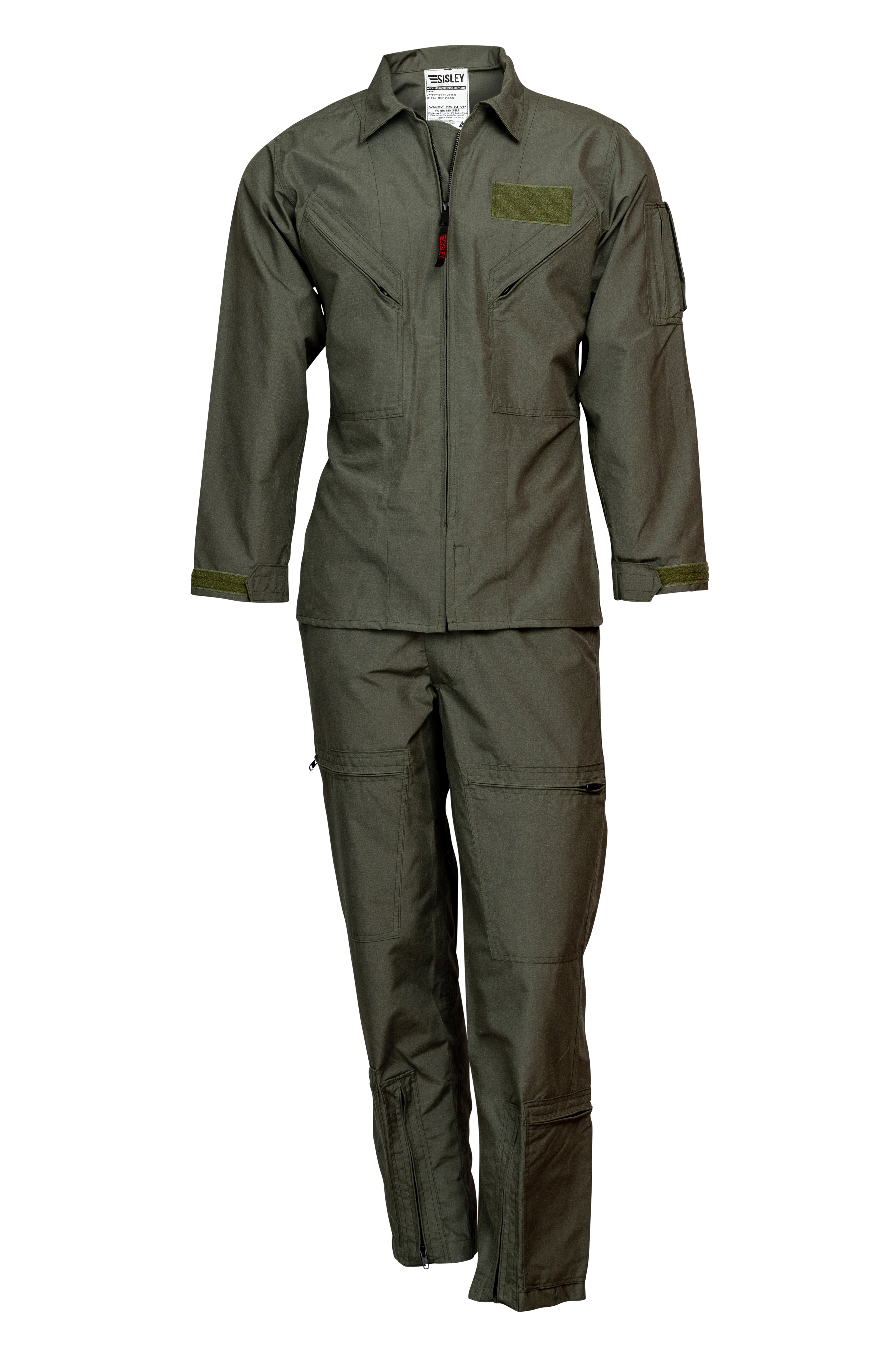 NOMEX TWO PIECE 4.5 oz FLIGHT SUIT Mil Spec